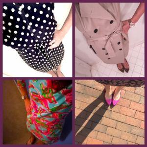 flats and dresses